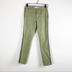 CHINO By Anthropologie Olive Green Stripe Pant